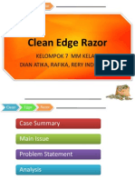 clean edge razor case essay Clean edge razor splitting hairs in product positioningmba8145-marketing management alpharetta, summer-2011 gsu individual case analysis.