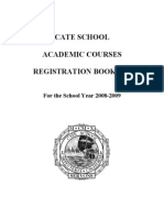 Cate Course Booklet 2008-2009