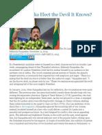 Will Sri Lanka Elect the Devil It Knows