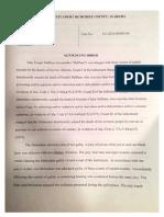 DeBlase Sentencing Order