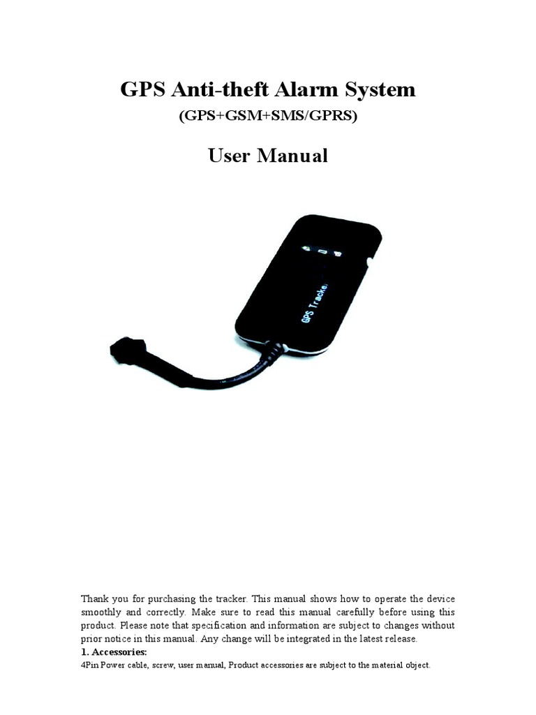 GT02A Vehicle GPS Tracker User Manual | Short Message Service