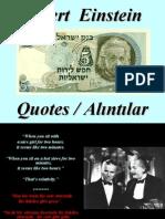 Albert Einstein'den Alıntılar
