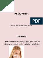 Hemoptizia prezentare