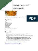 Receta de Comida Boliviana