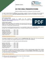 WGC 2015 Oral Presentation Guidelines