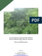 Lista de Espécies Vegetais da Mata Atlântica - Ordem alfabética por nome científico - Paulo Schwirkowski