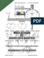 Cours Métrologie Et Contrôle Qualité - Maîtrise Génie Mécanique 2013