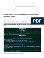 UP Kanungo Exam Date Syllabus Pattern Model Question Paper _ Shimla99