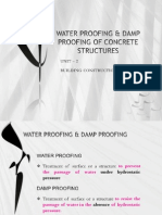 Water-proofing & Damp-proofing of Concrete Structures