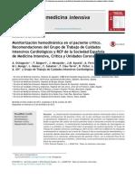 Monitorizacion Hemodinamica en El Paciente Critico