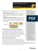Datasheet - Symantec Data Center Security Server &Server Advanced