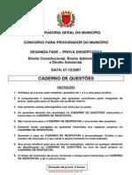 Prova Procurador Estado Paraná - 2007