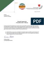 Finanzabkommen Südtirol-Rom - die zurückzuziehenden Rekurse - Anfrage und Antwort im Landtag