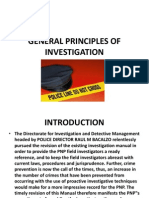 General Principles of Investigation