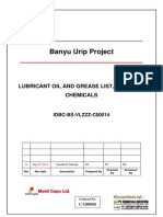 Lubricant Oil and Grease List, MSDS for Chemicals