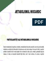 Metabolismul miocardului