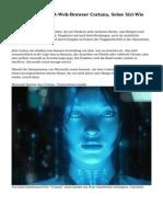 Der Neue Microsoft-Web-Browser Cortana, Seine Siri-Wie Digital Assistant