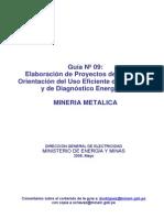 Elaboración de Proyectos de Guías de Orientación del Uso Eficiente de la Energía y de Diagnóstico Energético