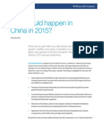 What Could Happen in China in 2015