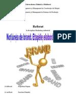 Notiunea de Brand - Etapele Elaborarii Brandului