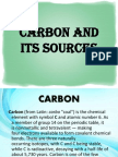 Carbon and Its Sources