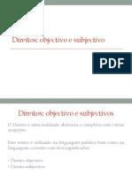 Direito Objectivo e Subjectivo