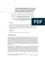 Comparative Performance Analysis of Machine Learning Techniques for Software Bug Detection