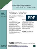 Revista Iberoamericana de Argumentación - El debate público en las Redes Sociales Twitter España como estudio de caso