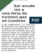 150109 La Verdad CG - Gibraltar Acude Este Mes a Una Feria de Turismo Gay en Londres p. 7