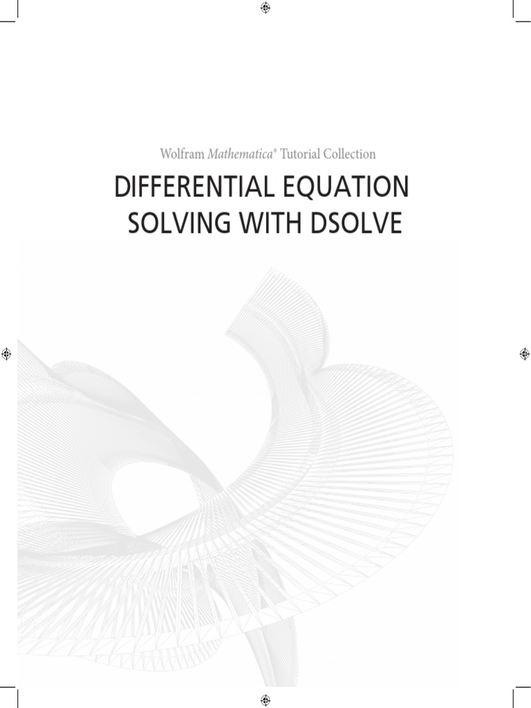 Wolfram Mathematica Tutorial Collection Differential Equation