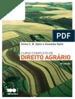 Curso Completo de Direito Agrário - 8ª Ed. 2014 - Silvia Opitz; Oswaldo Opitiz