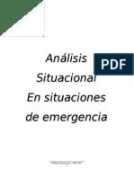 Análisis Situacional Relacionado Con Personas y Sus Familias en Condición de Emergencia
