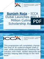 Sunjeh Raja - ICCA Dubai Launches AED 1 Million Culinary Scholarship Award