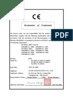 CE Declaration of Conformity-DVR