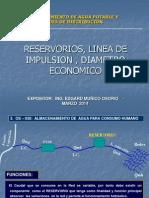 2. Reservorios, Linea de Impulsion, Diametro Economico
