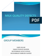 MILK QUALITY DEFECT