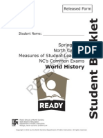 World History Released NC Final Exam