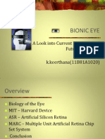 My Technical Seminar Ppt (Bionic Eyes)