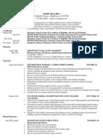 jennifer baccellieri resume 2014