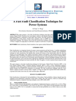 A Fast Fault Classification Technique for Power Systems