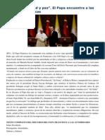 Francisco- Discurso a Autoridades Turcas 28-11-14 Diálogo, Libertad y Paz