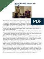 Francisco- Homilía 4-12-14 Los Santos Escondidos de Todos Los Días Dan Esperanza