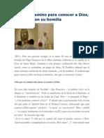 Francisco- Homilía 8-1-14 El Amor, Camino Para Conocer a Dios