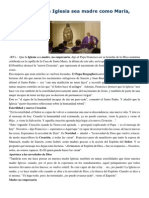 Francisco- Homilía 19-12-14 Que Ante Todo La Iglesia Sea Madre Como María