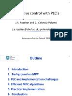 Mon 17.30 Predictive Control Down at Plc Level Rossiter