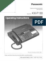 Panasonic KX-F130 service manual