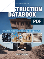 Cover & Table of Contents - Construction Databook; Construction Materials and Equipment (2nd Edition)