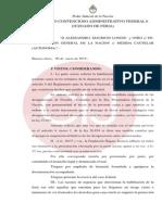 Resolución del juez Enrique Lavié Pico en causa por designaciones en fiscalías
