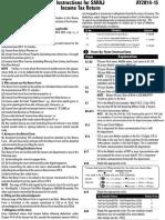 Instruction ITR 1 Sahaj 2014