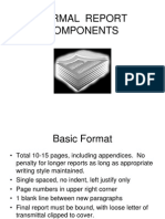 FORMAL  REPORT COMPONENTS.ppt